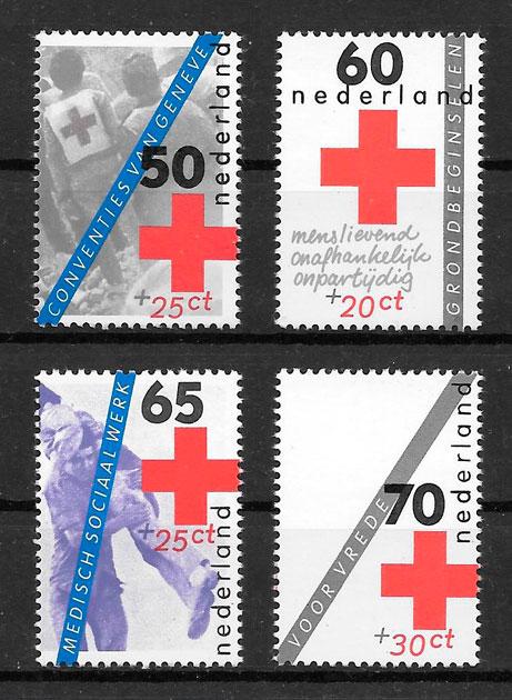 sellos cruz roja Holanda 1983