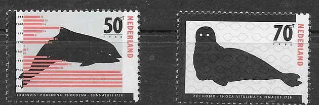 sellos fauna marina Holanda 1985
