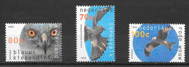 sellos fauna Holanda 1995