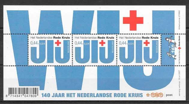 filatelia cruz roja Holanda 2007