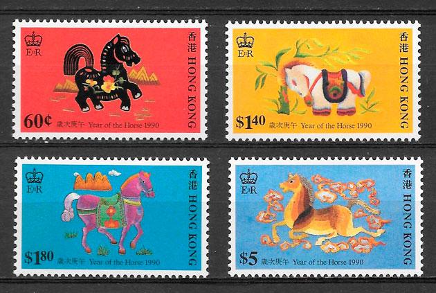 filatelia año lunar Hong Kong 1990