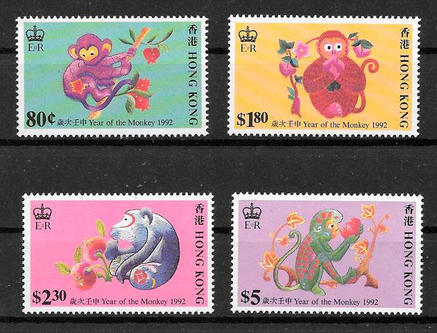 filatelia año lunar Hong Kong 1992