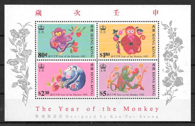sellos año lunar Hong Kong 1992