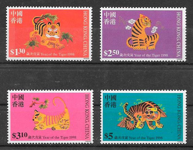 filatelia año lunar Hong Kong 1998