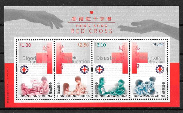 sellos cruz roja Hong Kong 2000
