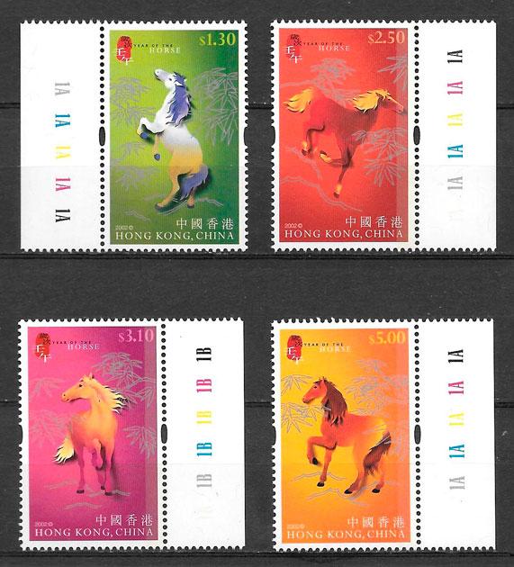 sellos año lunar Hong Kong 2002
