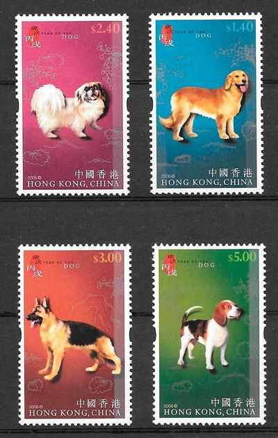 sellos año lunar Hong Kong 2006