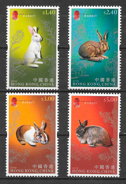 sellos año lunar Hong Kong 2011