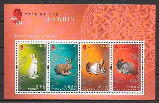 filatelia año lunar Hong Kong 2011