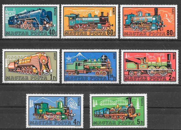 filatelia trenes Hungria 1972