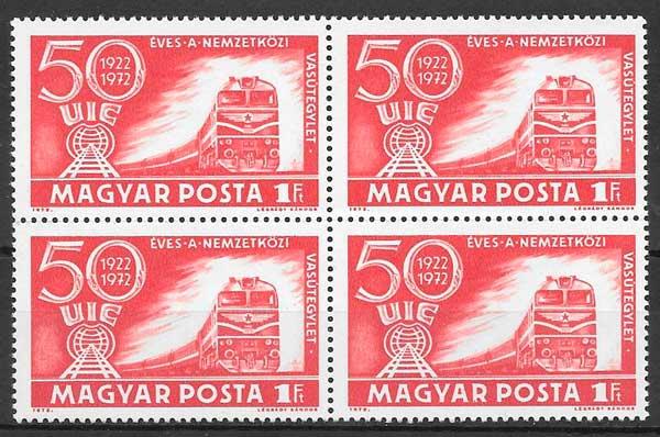 filatelia trenes Hungría 1972