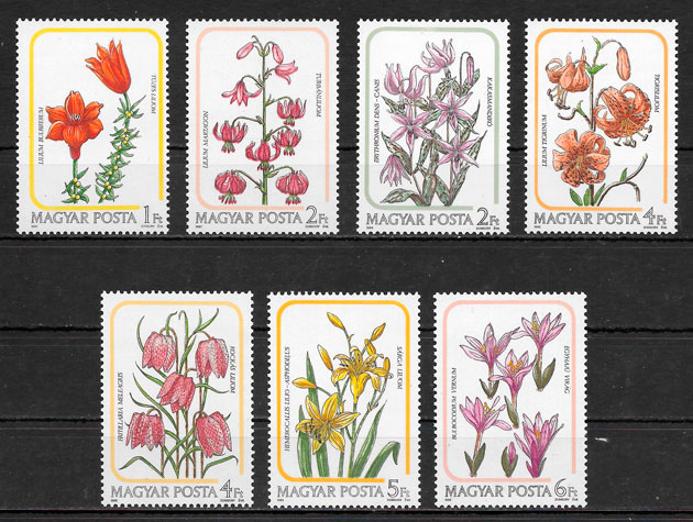 filatelia flora Hungría 1985