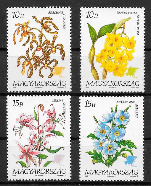 filatelia colección flora Hungría 1993