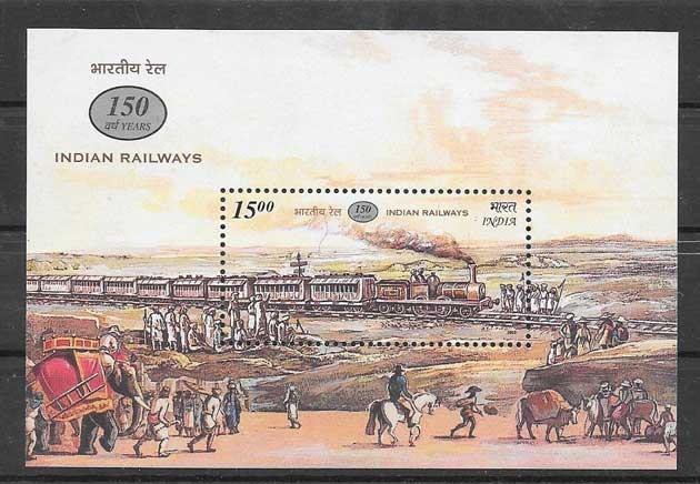 Estampillas transporte ferroviario India-2002-01