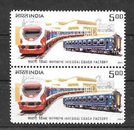 Estampillas transporte ferroviario India-2005-01