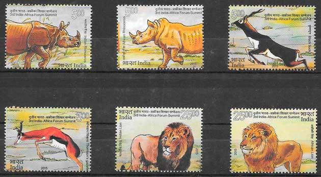 filatelia fauna India 2015