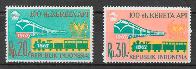 filatelia trenes Indonesia