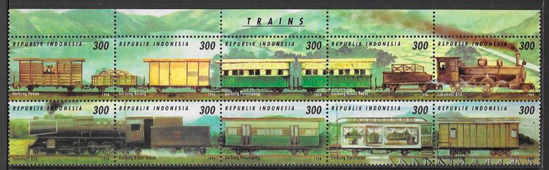 selos trenes Indonesia 1998