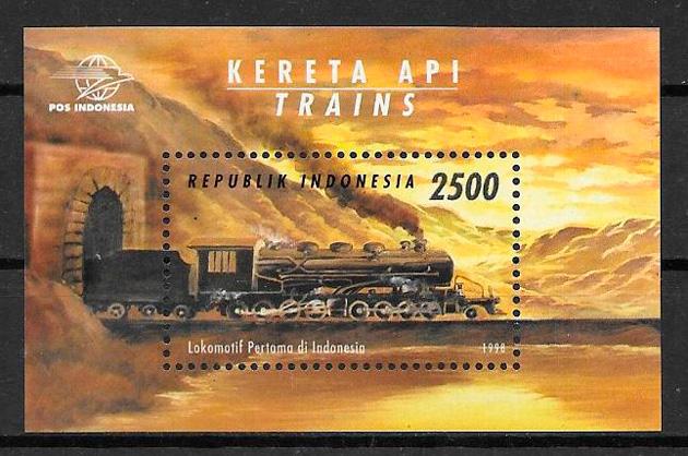 sellos trenes Indonesia 1998
