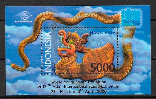 colección sellos año lunar Indonesia 2000