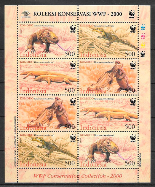 sellos fauna wwf Indonesia 2000
