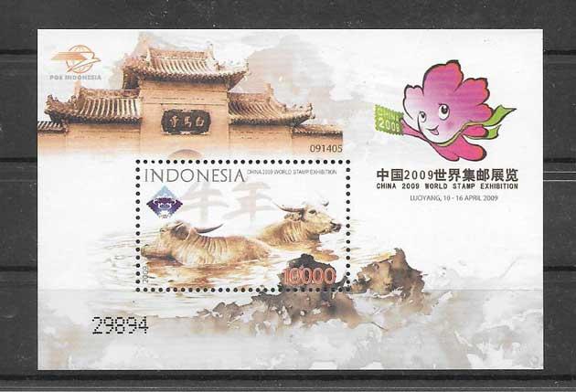 Sellos filatelia año chino lunar búfalo III