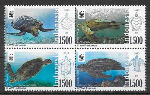 filatelia fauna wwf Indonesia 2010