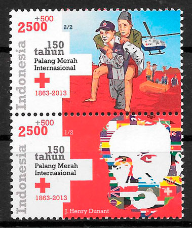sellos cruz roja Indonesia 2013