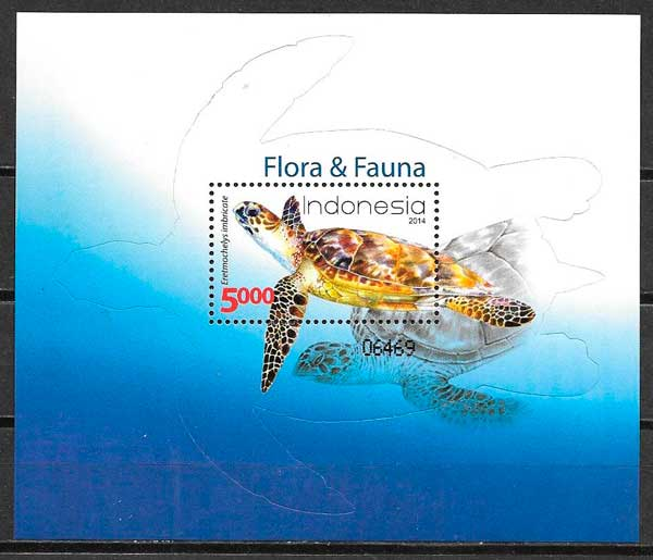 sellos colección fauna Indonesia