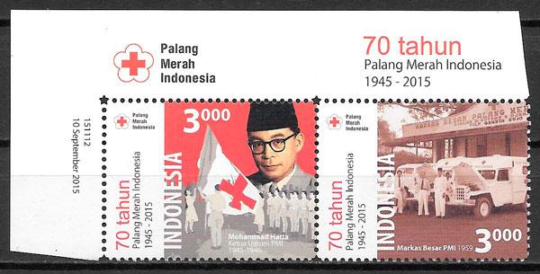 sellos cruz roja Indonesia 2015
