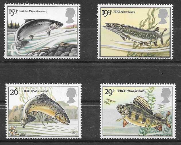 sellos fauna Gran Bretaña 1983