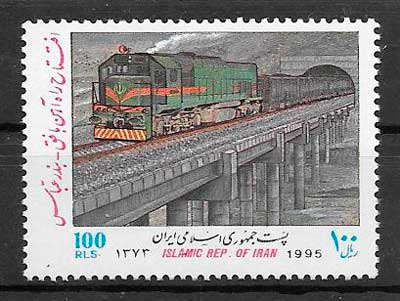 filatelia trenes Iran 1995