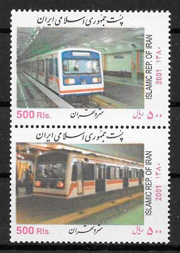 sellos trenes Iran 2001