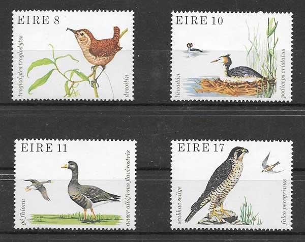 Colección sellos Fauna Irlanda 1979