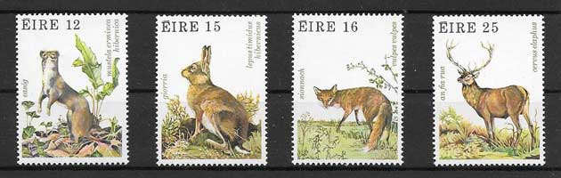 Sellos filatelia Fauna diversa Irlanda 1980