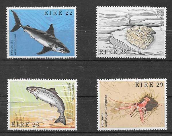 Sellos filatelia Fauna marina Irlanda 1982