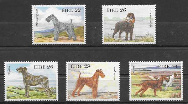 Sellos fauna perros Irlanda 1983