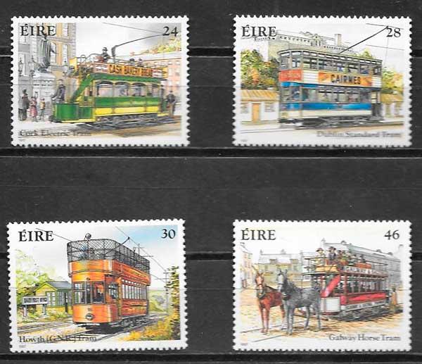 sellos trenes Irlanda 1987