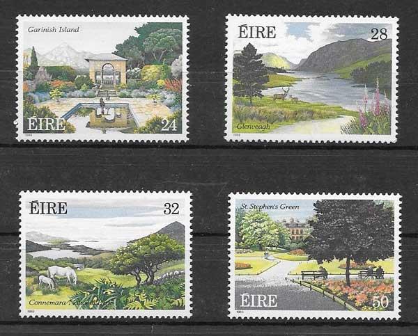 Colección Sellos Flora Irlanda 1989