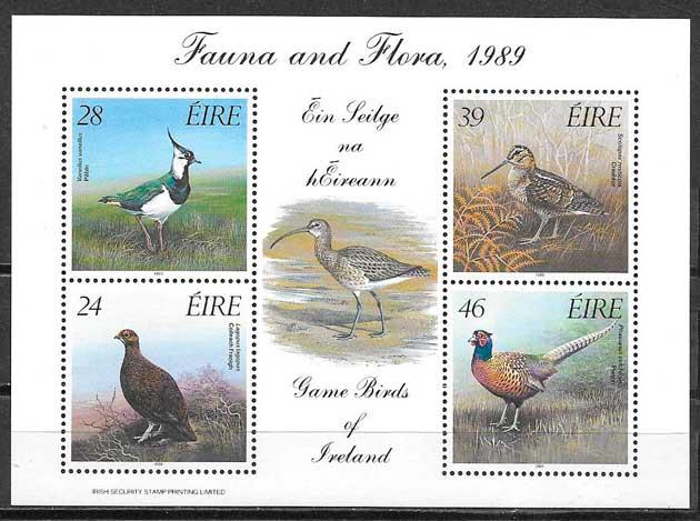 filatelia fauna Irlanda 1989