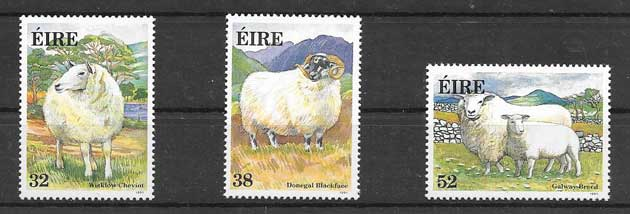 Sellos filatelia Fauna Irlanda 1991
