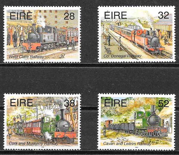 filatelia trenes Irlanda 1995