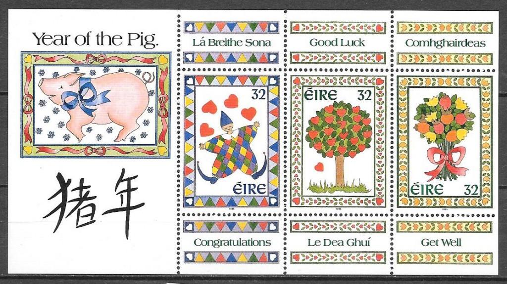 sellos año lunar Irlanda 1995