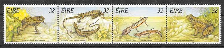 sellos colección fauna Irlanda 1995