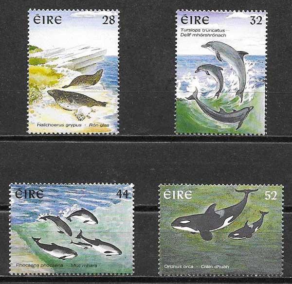 filatelia colección fauna Irlanda 1997