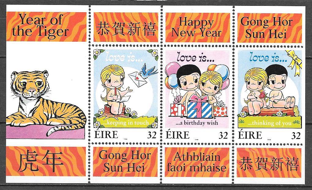 sellos año lunar Irlanda 1998