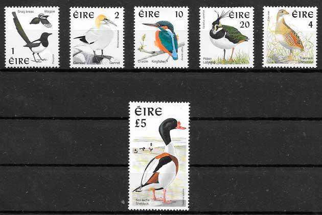 colección sellos fauna Irlanda 1997