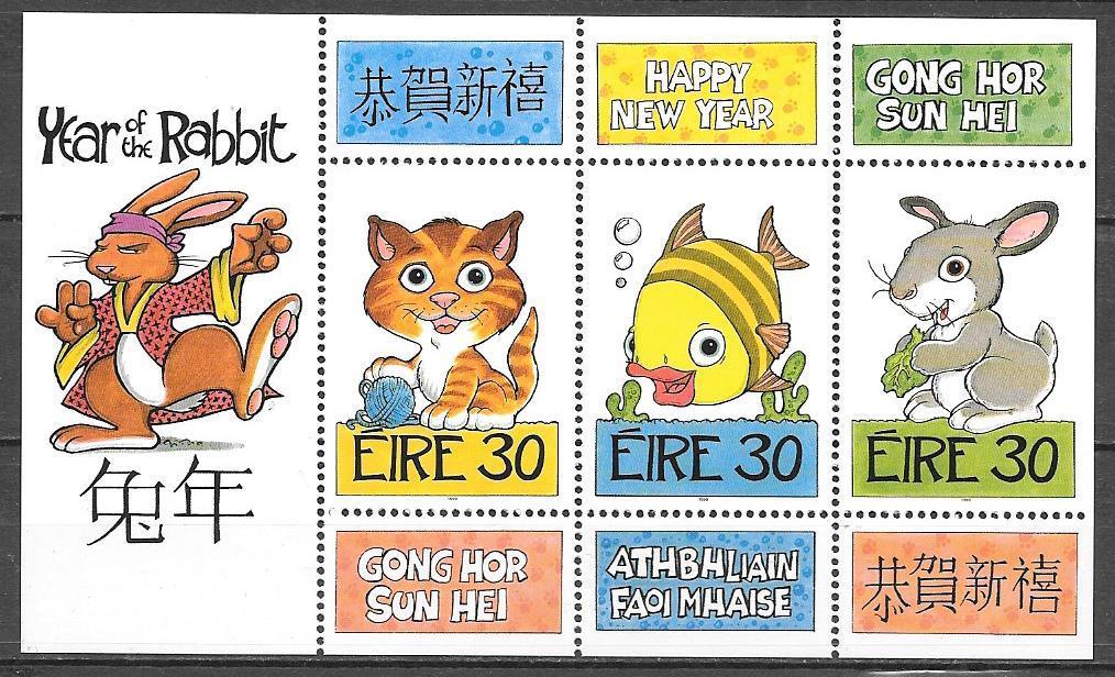 sellos año lunar Irlanda 1999