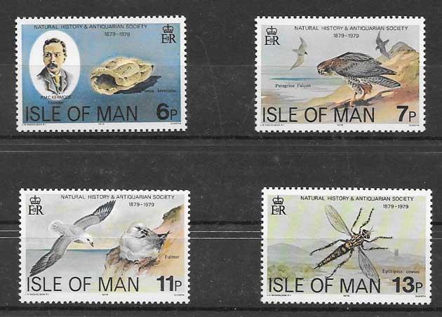 Filatelia sellos fauna diversa Isla de Man 1979