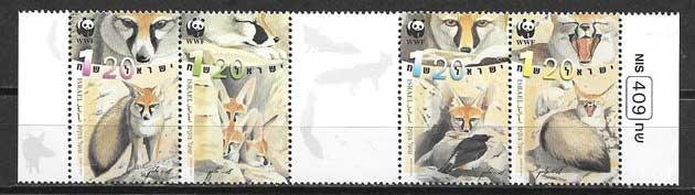 Filatelia fauna Israel 2000